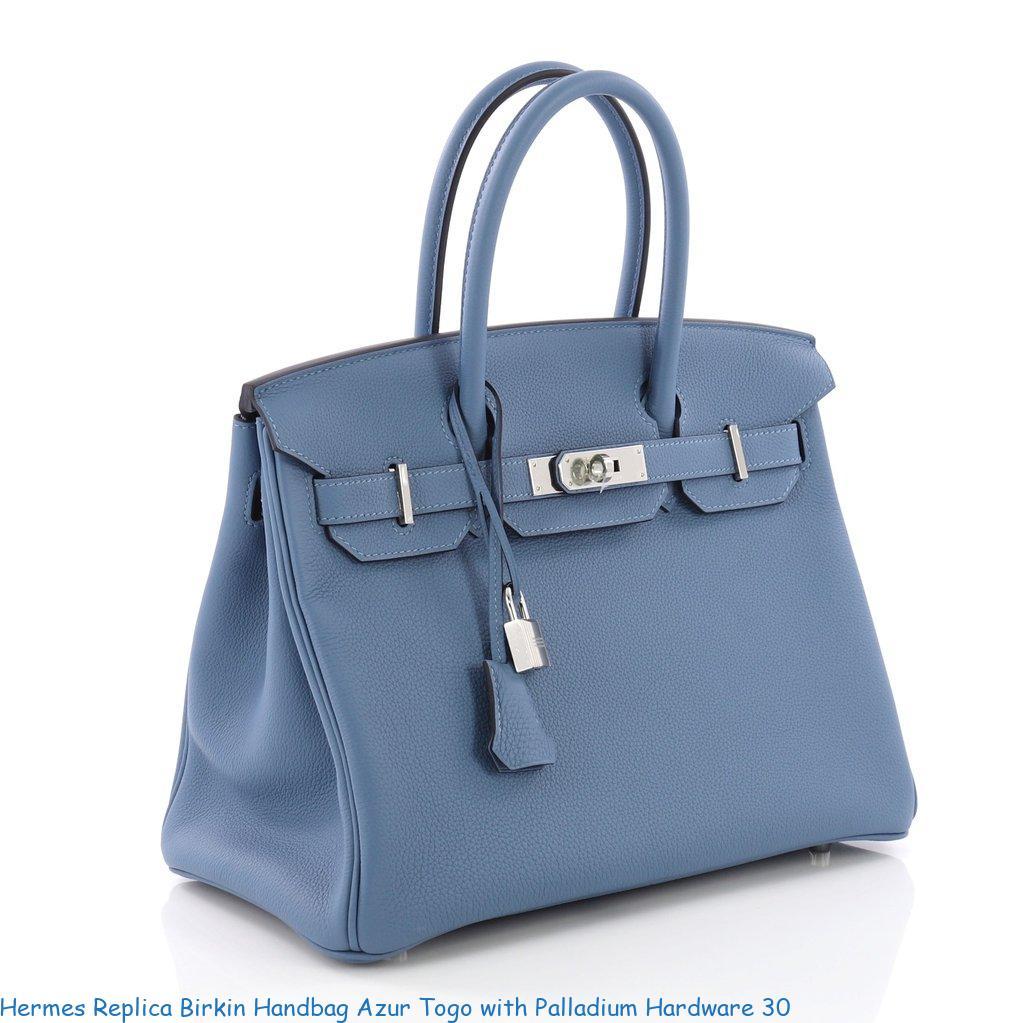 1bb8848d364e Hermes Replica Birkin Handbag Azur Togo with Palladium Hardware 30 – Replica  Hermes Belts – Highest Quality Hermes Replica Belts On The Market