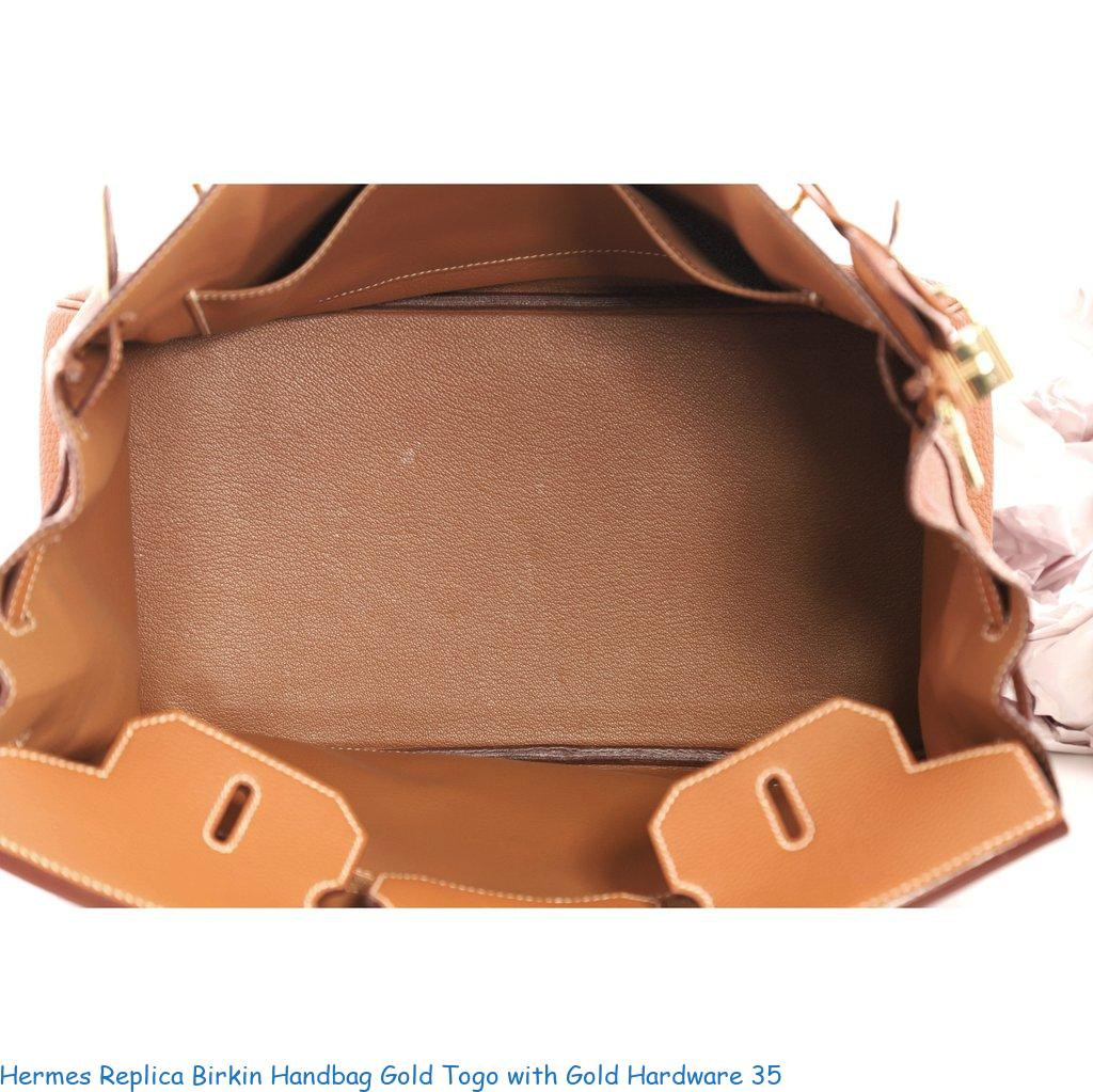 a73686cf659 Hermes Replica Birkin Handbag Gold Togo with Gold Hardware 35