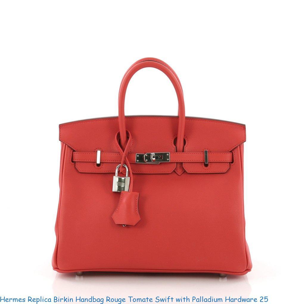 48d630fcbd3 Hermes Replica Birkin Handbag Rouge Tomate Swift with Palladium Hardware 25