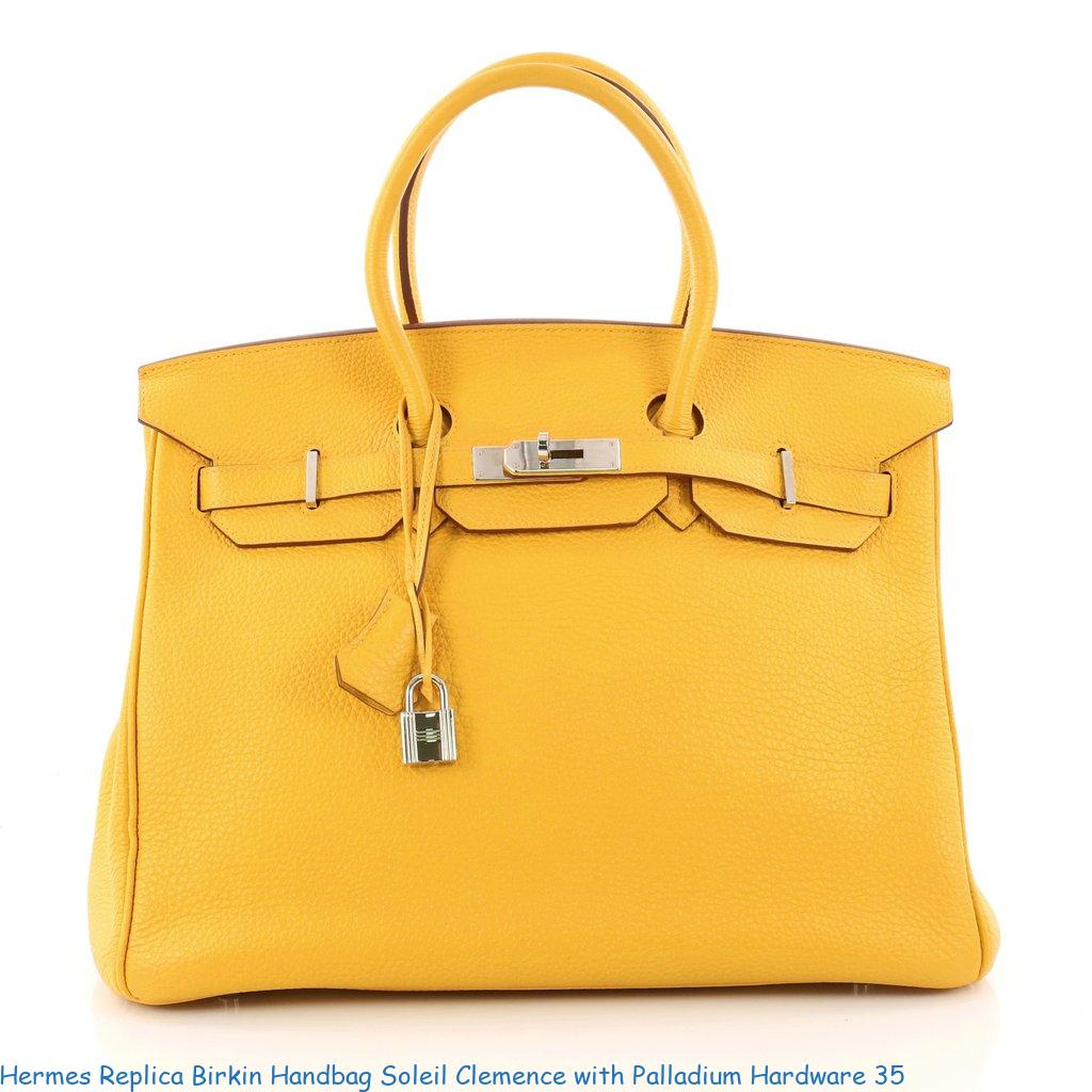 02efa0b5295f Hermes Replica Birkin Handbag Soleil Clemence with